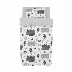 If your little boy is a super hero in the making, our Pow theme is perfect for any little boy's grey nursery! Create A Superhero, Cot Duvet, Sailor Theme, Grey Sheets, Classic Cartoons, Duvet Sets, Adventurer, Nursery Themes, Grey And White
