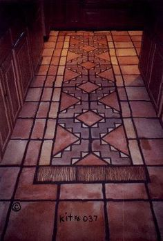 tiled rug