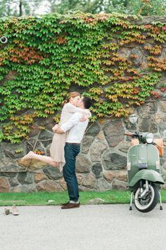 Toronto Engagement Photos. Engagement Session. Vespa - Dexter Chew Photography