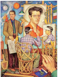 Self-Portrait (1950) by Mexican muralist and architect Juan O'Gorman.  He is known for designing Casa Azul (The Blue House) for Diego Rivera and Frida Kahlo.