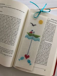 Cross Stitch Bookmark, Finished Product, Laminated