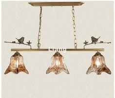 Newly 3L L70cm Nordic Pendant lamp Brass Vintage Bird Countryside Pendant Light LED E27 110V220V Special Decoration Pendant Lamp #Affiliate