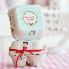 Konturensticker Eierbox - Süße Sünde - star