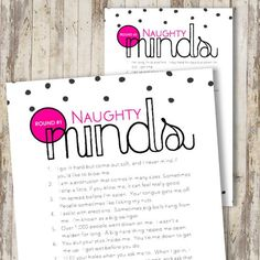 PRINTABLE Bridal Engagement Bachelorette Party Game - Bachelorette Party, Bridal Shower, Party Games, Bachelorette Games, Bridal Shower Naughty Mind Game - This printable party game is a perfect addit Bachlorette Party, Bachelorette Party Games, Bachelorette Weekend, Bridal Shower Party, Bridal Showers, Mind Games, Craft Party, Party Printables, Free Printables