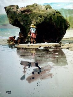 """""""Beach combers 2""""  by Fred Galan"""