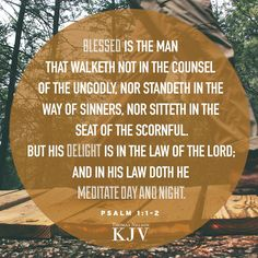 KJV Verse of the Day: Psalm 1:1-2