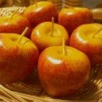 Velas pequeñas en forma de Manzanas.