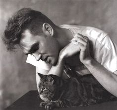 Moz & his cat 'Tibby' Photo by: Lawrence Watson