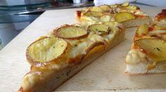 pizza de papas al romero