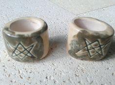 2 Aquarian Star Ceramic Macrame Beads Large Hole Dread Dreadlock Unicursal Hexagram Clay Pottery Beads Supplies