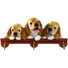 List Price $19.99  Our Price $13.99  ID: 200800010907  This leash hook, featuring three adorable pups, is the perfect way to bring an extra bit of whimsy to your home. Featuring three metal hooks, it is ideal for holding leashes, keyrings, purses, and other items.  http://www.calendars.com/dbs/Cocker-Spaniel-Leash-Hook/Cocker-Spaniel-Leash-Hook/prod114868/?categoryId=cat10073=cat10073
