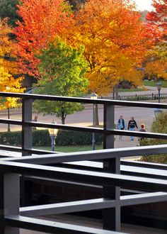Autumn view from the Alumni Memorial Union's Lynch Veranda at Marquette University.