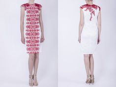 Embroidered short dress by AtelierDeCoutureJK on Etsy