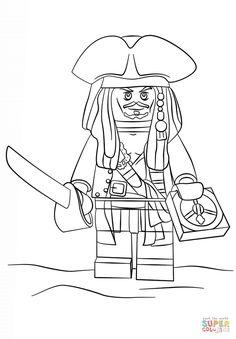 Lego Jack Sparrow Coloring Page