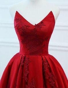 3f1caf0d81 Sweetheart Red Long Prom Dresses Evening | prom dresses Pizzo Applique,  Abiti Da Ballo,