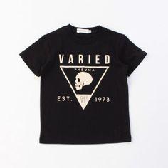 【トライアングルスカルプリントTシャツ】横を向いたスカルプリントが目を引くクールなTシャツ。トライアン…