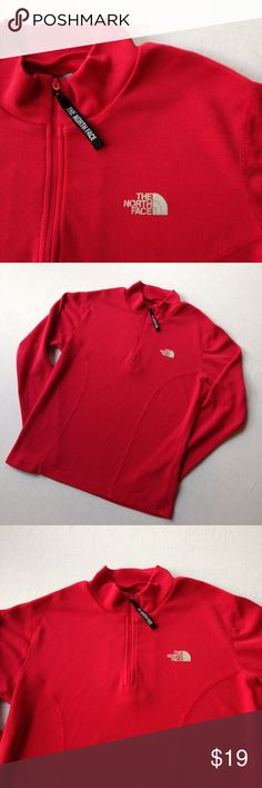 t h e  n o r t h  f a c e The North Face 1/2 zip pullover. Long sleeved, vaporwick series. In great condition. More pictures available upon request. The North Face Tops