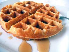 Brown sugar maple bacon waffles.