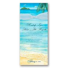 At the Beach Wedding Invitation