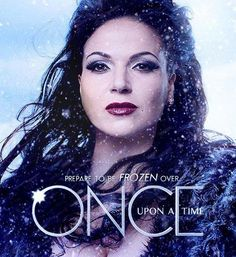 Awesome Evil Queen Regina on an awesome Once poster for awesome Once season 4