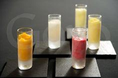 #Sorbetes de limón, mandarina, frambuesa, mojito y mango. // Lemon, tangerine, raspberry, mojito and mango #sorbets.  | Goyo Catering 2013.