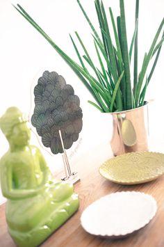 Ein kleines Zen-Bäumchen Incense, Tree Structure, Yellow