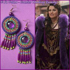 Contessa MARBURG orecchini perle di Artisan tipo I di LaPolena