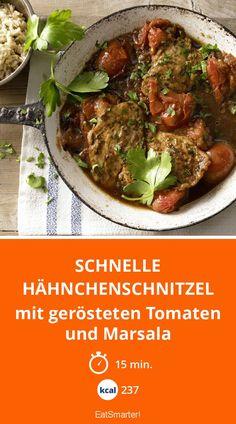 Schnelle Hähnchenschnitzel - mit gerösteten Tomaten und Marsala - smarter - Kalorien: 237 kcal - Zeit: 15 Min.   eatsmarter.de