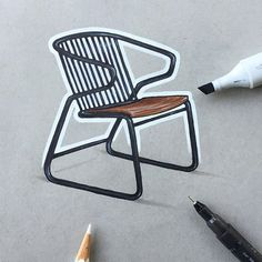 A Month of Chairs (24/30) Gabbia Chair by Djordje Cukanovic