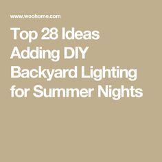 Top 28 Ideas Adding DIY Backyard Lighting for Summer Nights Big Deck, Backyard Lighting, Outdoor Lighting, Diy Garden Projects, Garden Ideas, Garden Fun, Patio Ideas, Outdoor Wedding Reception, Backyard Makeover