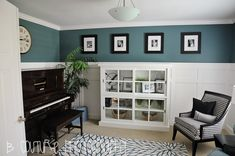 Front room idea...replace the piano with a desk...add a fireplace