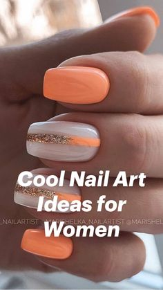 Almond Nails Designs Summer, Green Nail Designs, Toe Nail Designs Summer, Accent Nail Designs, Elegant Nail Designs, Ombre Nail Designs, Pink Nail Designs, Pretty Nail Designs, Elegant Nails