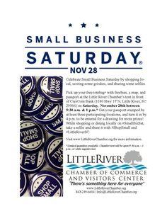 Small Business Saturday - Nov 28, 2015 - CM_littleriver_Template - Little River Chamber of Commerce