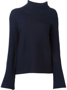 jersey de canalé asimétrico