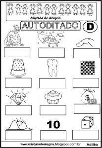 Plano De Aula Letra D E Familia Silabica Com Imagens