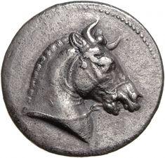 Tetradracma - argento - Pergamo (281-280 a.C.) -testa di cavallo bardato con corna - Münzkabinett der Staatlichen Museen Berlin