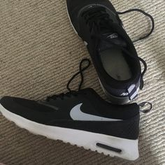 21301ae299 Black and white Nike air max Thea trainers/runners. Hardly worn and selling  for. Depop