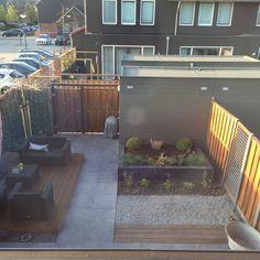 Holland Garden, Court Yard, Decking Ideas, Garden Makeover, River Park, Outdoor Spaces, Outdoor Decor, Small Backyards, Balcony Garden