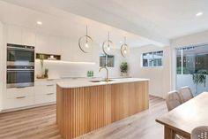 Kitchen Interior, New Kitchen, Kitchen Island, Kitchen Renovation Inspiration, Kitchen Benches, Zen House, House 2, Küchen Design, Design Trends