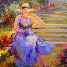 """""""Reading Emerson"""" by Diane Leonard   /   r&a"""