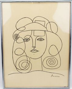Picasso Line Drawings   PABLO PICASSO - LITHOGRAPH LINE DRAWING : Lot 39015