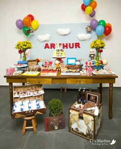 Up themed birthday party via Kara's Party Ideas KarasPartyIdeas.com Cake, decor, cupcakes, printables, favors, games, and more! #disneysup #...
