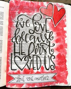 "Today's journaling is simple but so is the message...love one another.  Not just some others but ALL others.  Regardless of their beliefs political affiliations gender race or whatever.  We are called to love everyone.  How can we be an example of God's love if we only choose to love those who we deem worthy?  God loves us ALL I'm taking this quote directly from my study bible because it sums it up perfectly  ""It is easy to say we love God when that love doesn't cost us anything more than…"