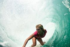 "Surfing with only one arm. ONE ARM!!! Among top 25 female surfers in the world, Bethany used her faith to turn tragedy into triumph. Movie ""Soul Surfer"" is awesome, based on Bethany's true story."