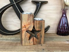 Star Candle Holder 5th Anniversary Gift Farmhouse Decor | Etsy Rustic Candles, Rustic Candle Holders, Tea Light Candles, Rustic Farmhouse Decor, Rustic Decor, Christmas Tree Candles, Star Candle, Star Decorations, Candle Stand