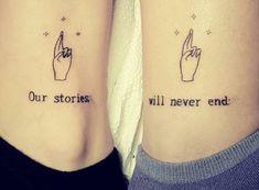 Small Best Friend Tattoos, Small Matching Tattoos, Matching Best Friend Tattoos, Small Tattoos, Best Friend Tattoo Quotes, Tattoos For Friends, Couples Matching Tattoos, Bestie Tattoos Bff, Cute Sister Tattoos