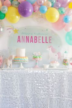 Project Nursery - Unicorn Party Dessert Table