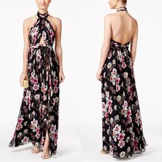 Jill Jill Stuart Floral-Print Cutout Halter Maxi Dress  #dress #maxidress #womenfashion #floraldress