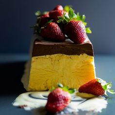 Passionfruit Semifreddo with Frozen Dark Chocolate Sauce Recipe on Food52 recipe on Food52