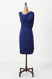 Ruched & Draped Column Dress